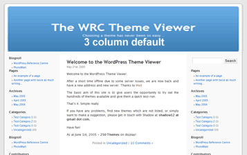 WP Kubrick default theme in 3 columns